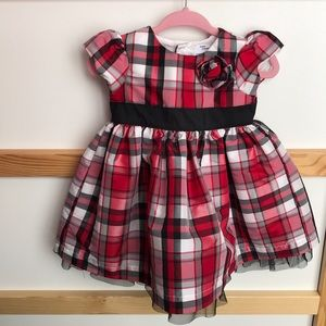 Carter's Plaid Dress with tulle skirt